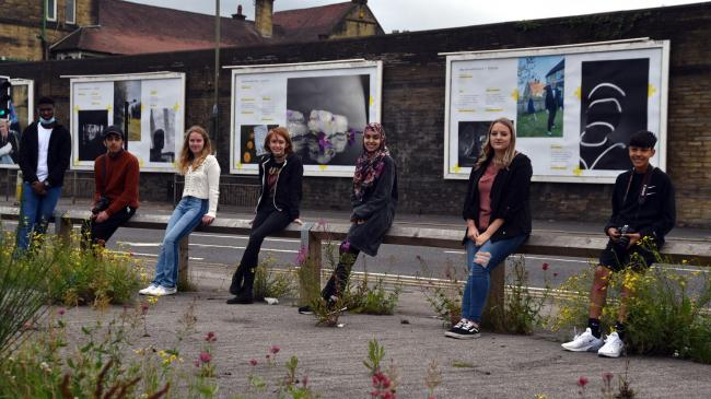 Some of the teenagers whose photographs are on display in the Our Street Gallery