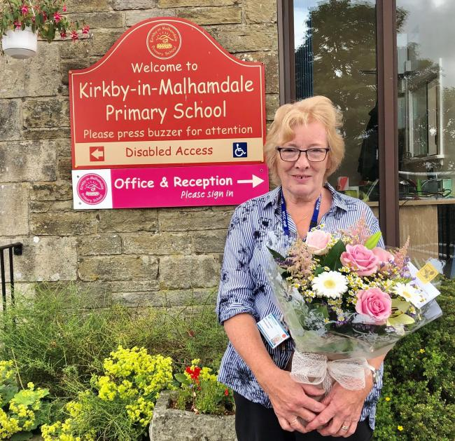 Christine Eccleston has retired after a long administrative career in schools around Craven