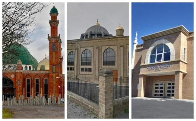 L-R: Bradford Grand Mosque, Bradford Central Mosque and Al-Mahdi Mosque are just some of the places which have put measures in place amid COVID-19