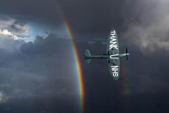 The Thank U NHS Spitfire, which was due to fly over Bradford today, has been called off.