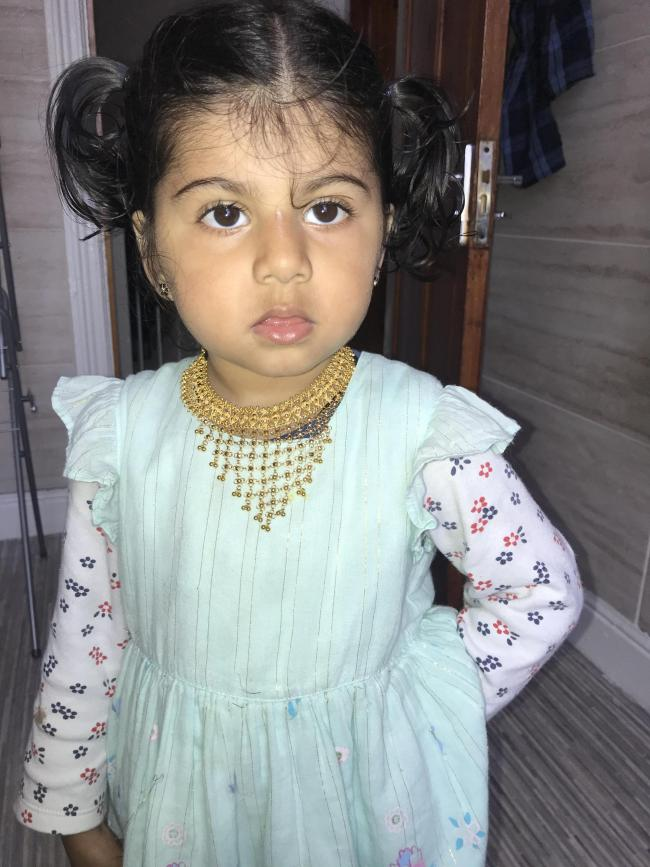 Daughter enjoying eid