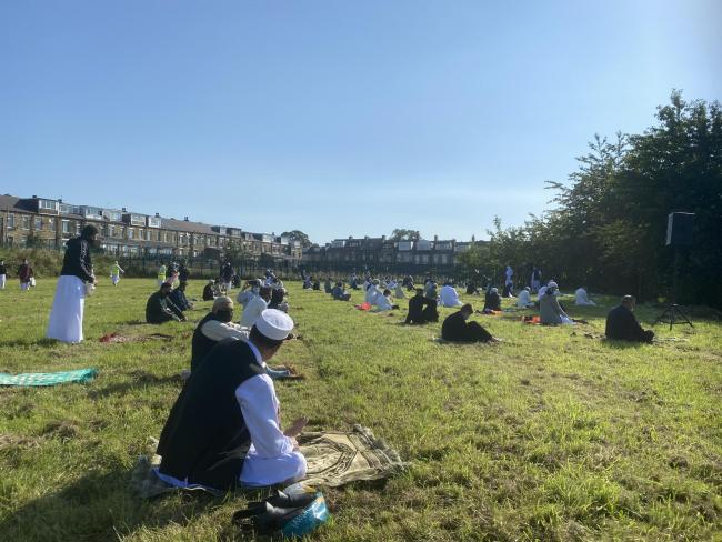 Eid prayer on Whetley Fields - Masjid Umar excellent organisation to ensure social distancing and all checks on place too