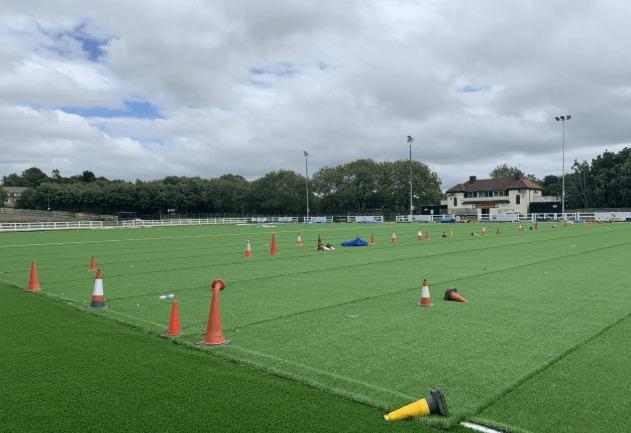 The new Horsfall 3G pitch may be ready to host its first game on September 12