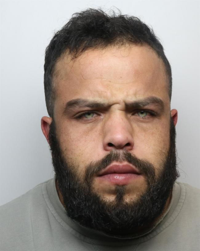Hirst (above) was jailed at Bradford Crown Court yesterday