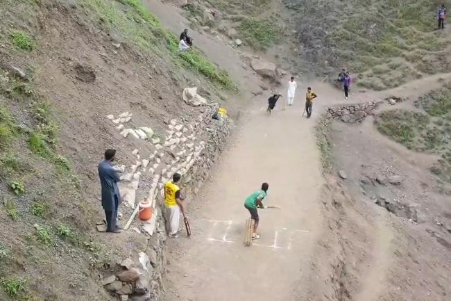 Cricket Played On Pakistan Mountainside Goes Viral In Popular Video Bradford Telegraph And Argus
