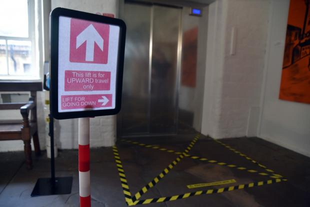 Bradford Telegraph and Argus: The one-way system at the mill's lifts
