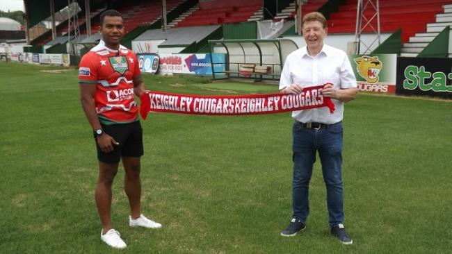 Robert Matamosi down at Cougar Park over the weekend with chairman Mick O'Neill