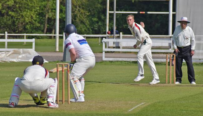 Bradford & Bingley rely on the spin of Bradley Reeve to get them wickets and to keep the scoring down. Picture: Richard Leach.