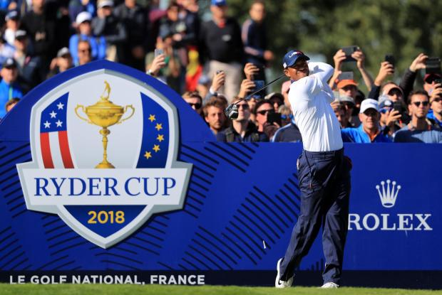 Bradford Telegraph and Argus: Golf superstar Tiger Woods, pictured at the 2018 Ryder Cup tournament