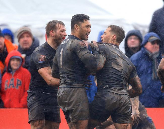 Quentin Laulu-Togaga'e (centre) also wore the number one jersey at Toronto Wolfpack Picture: Clint Hughes/PA Wire