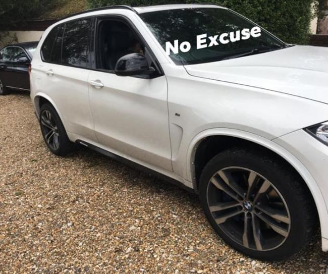 The seized car    Picture: Dorset Police No Excuse Team