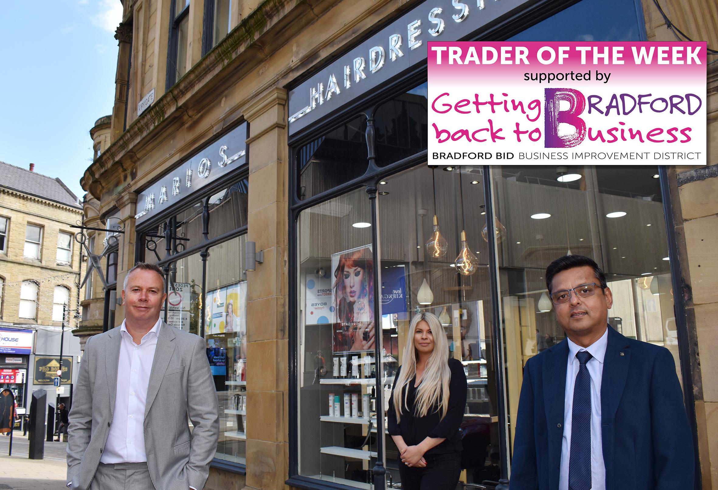 Marios still cutting it after 70 years in Bradford