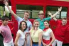 The young cast of Buttershaw St Paul's Amateur Operatic Dramatic Society's show Summer Holiday