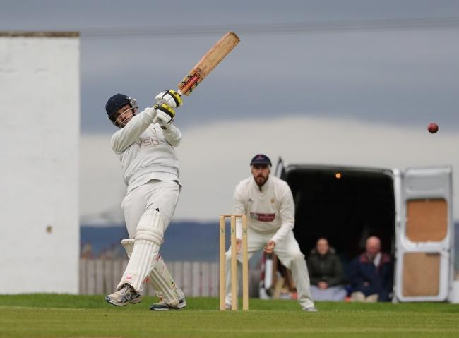 Thornton batting against Triangle in the Halifax League Premier Division last summer. Picture: Alex Daniel.