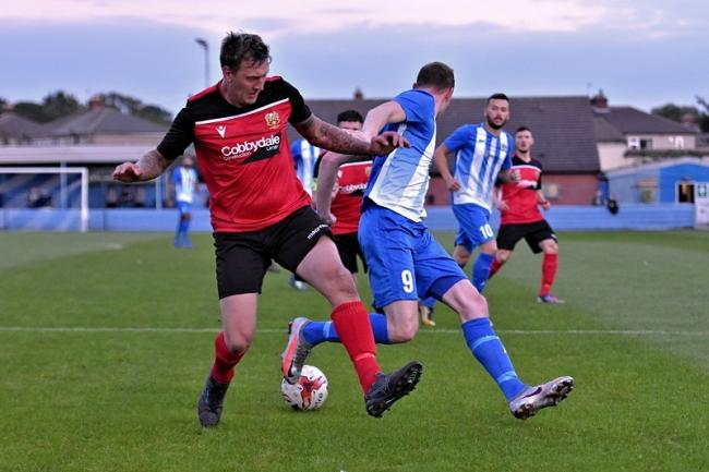 Silsden's defence did a good job in keeping a clean sheet against Eccleshill in the FA Cup on Tuesday night Picture: Daniel Kerr