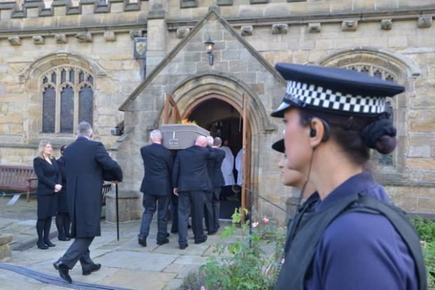 Bradford Telegraph and Argus: Geoffrey Brindley's funeral held at Bradford Cathedral