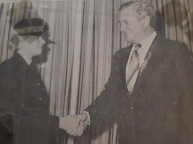 Bradford Telegraph and Argus: Hleen Gilyard during her days as a police officer in Bradford