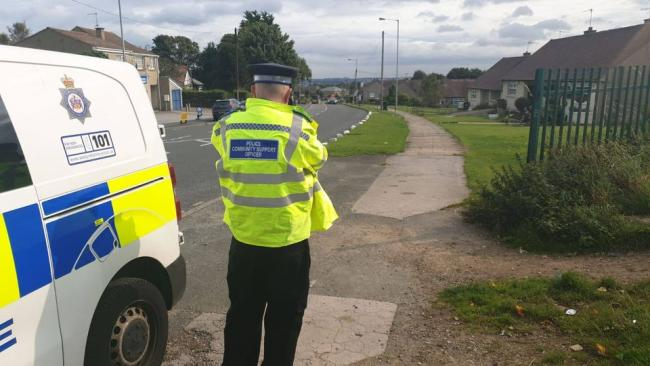 Police carried out speed checks in Bradford yesterday