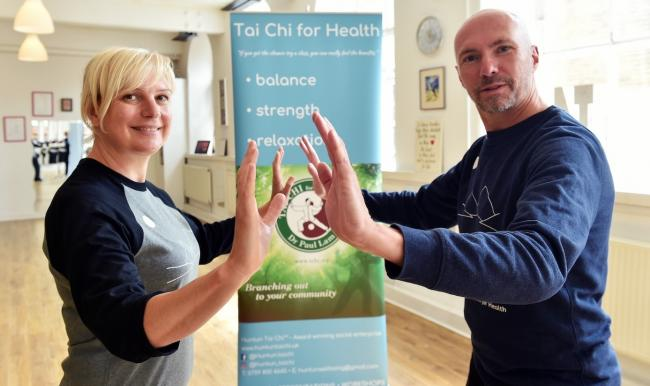 Helen Parsons and Philip Sheridan, of Discover Tai Chi