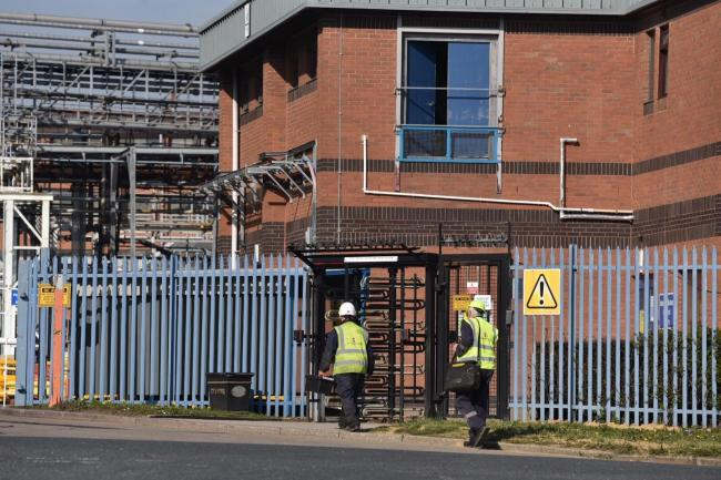 Staff go to work at the Solenis site in Low Moor