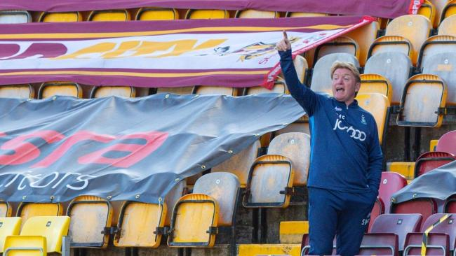 Valley Parade has remained empty for Stuart McCall and City so far this season. Picture: Thomas Gadd