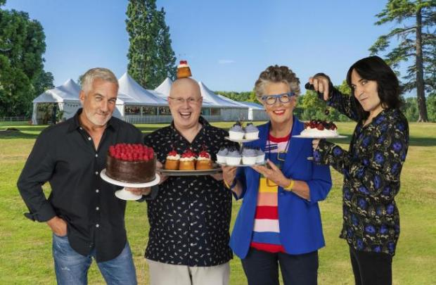 Bradford Telegraph and Argus: Paul Hollywood, Matt Lucas, Prue Leith and Noel Fielding. PA Photo/Channel 4 Television/Mark Bourdillon