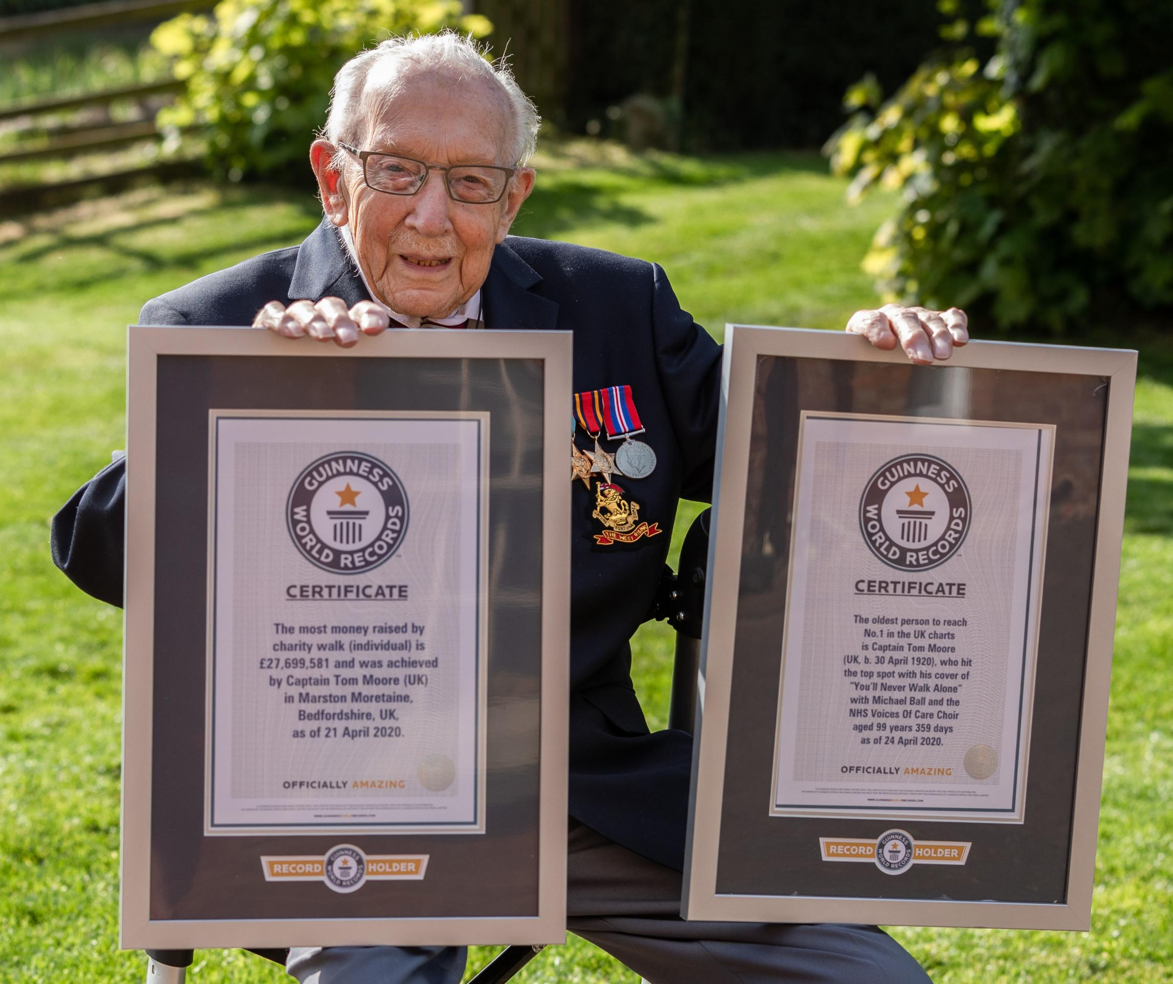 30 world records to try to beat at home - like Captain Sir Tom