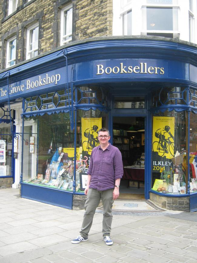 Manager Mike Sansbury outside The Grove Bookshop in Ilkley