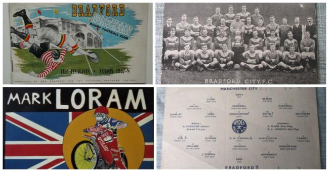 Items from Bradford's sporting past, including City, Avenue and speedway, will go under the hammer next month