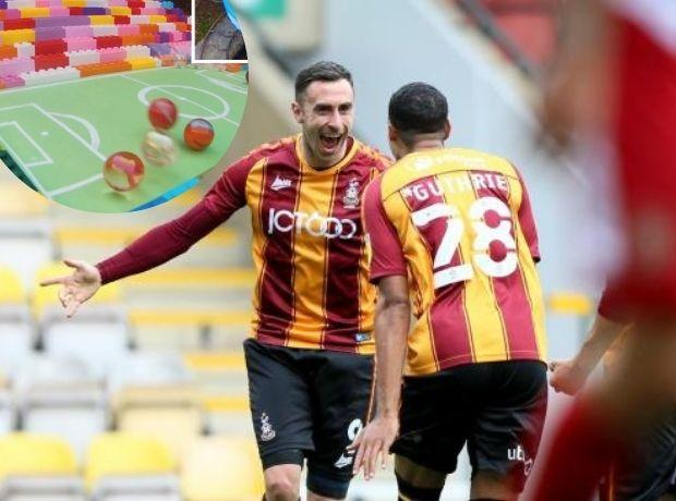 Bradford City will be celebrate come the end of the League Two season, according to the marble race. Picture: Thomas Gadd