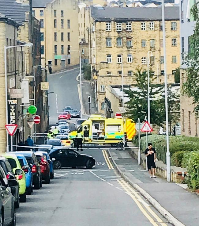 Emergency services called to scene of incident near Bradford city centre