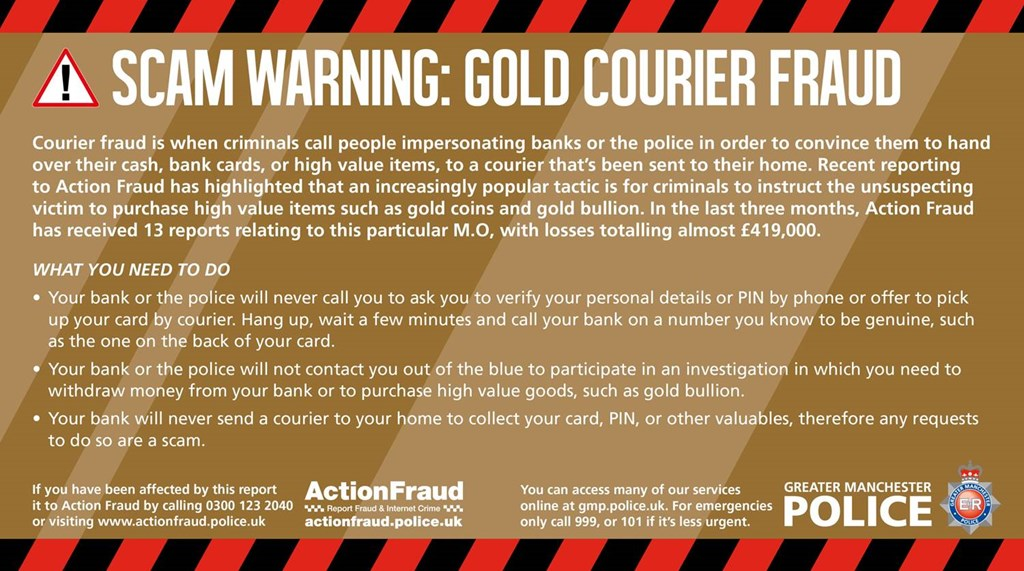 Warning Over Gold Courier Fraud After 13 Cases Reported Bradford Telegraph And Argus