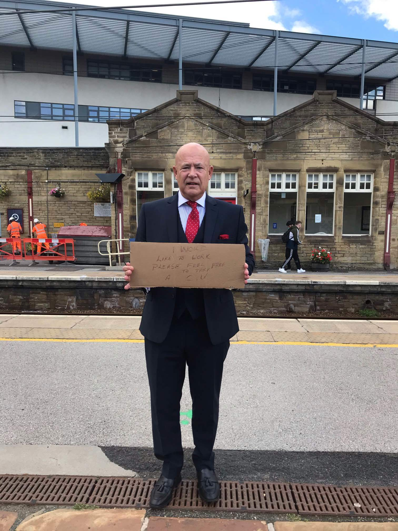 Keighley's Trevor Walford lands a job after handing out CVs at station | Bradford Telegraph and Argus