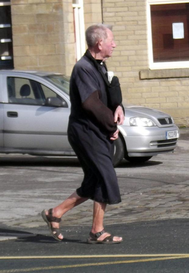 Bradford Telegraph and Argus: 'Bradford Jesus Man' could often be seen in his sandals in the district's streets