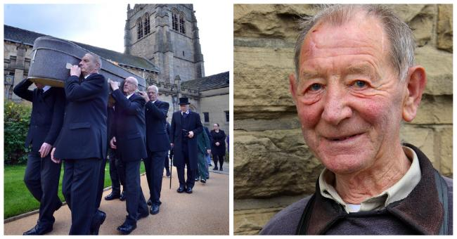 The funeral of 'Bradford Jesus Man' Geoffrey Brindley was held at Bradford Cathedral on October 13, 2015