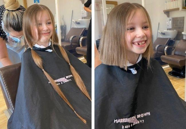 Ruby raises more than £1,000 with charity hair chop