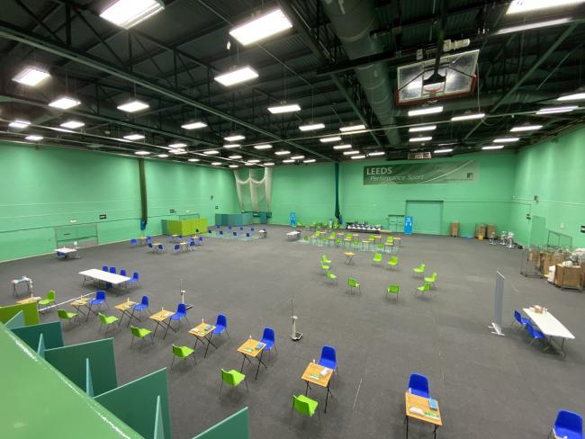 The University of Leeds' The Edge Sports Hall where the vaccine will be administered
