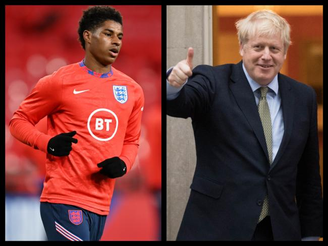 Boris Johnson has rejected Marcus Rashford's campaign to end food poverty