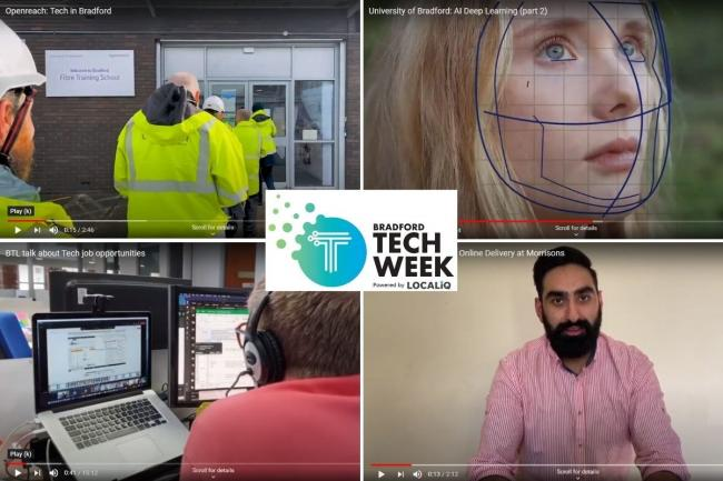Tech-related learning videos are available on the Bradford Tech Week 2020 YouTube channel