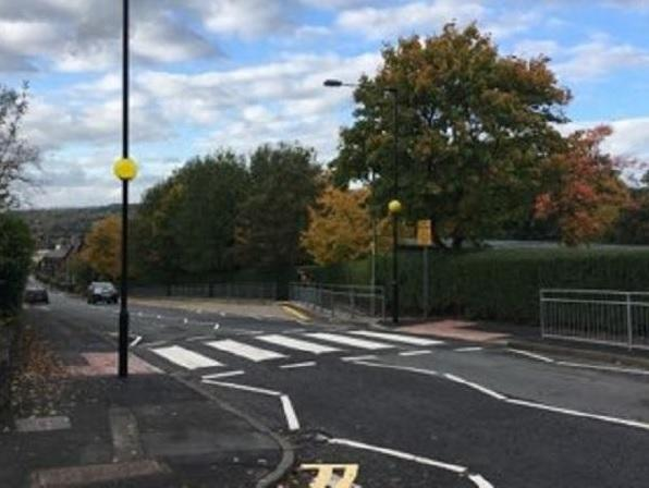The new crossing on Cow Pasture Road, near Ilkley Grammar School