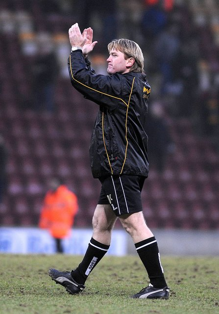 Stuart McCall bids an emotional goodbye to City fans at the end of Saturday's home defeat to Bury