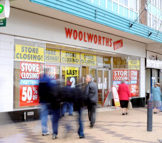 Woolworths in Market Place, Shipley, shut its doors in January 2009