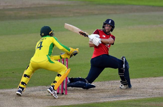 Dawid Malan batting for England against Australia during an international T20 match at the Ageas Bowl last month. Malan is ranked as the number one batsman in the world in the format. Picture: Dan Mullan/PA Wire.
