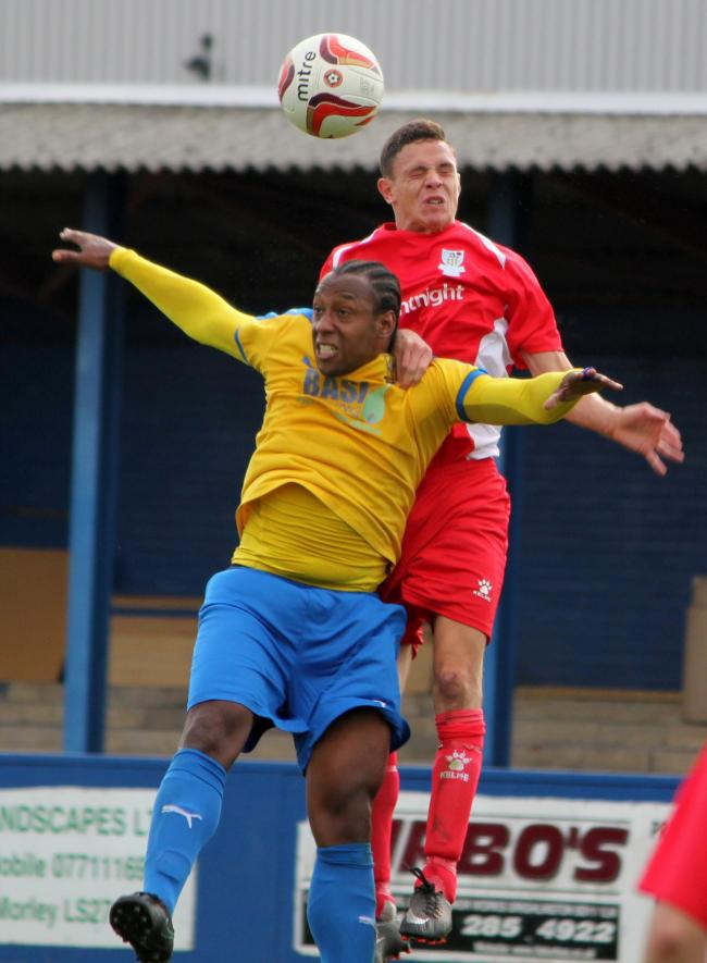 Danny Facey (front) got the winner for Albion in their game against Silsden Picture: Pete Naylor