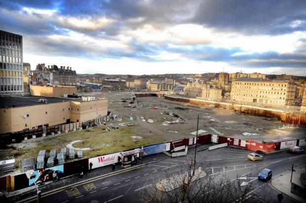 "The Westfield site in Bradford which could be opened up as a ""community garden"""