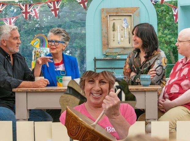 Sandy Docherty, inset, has had her say on the quarter-final episode of the Great British Bake Off