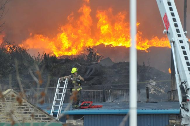 The fire at an old go karting site yesterday has caused major disruption across Bradford