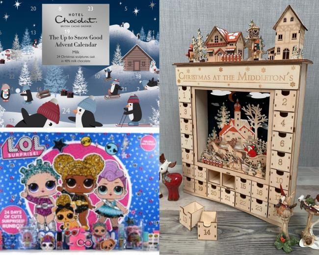 Best advent calendars for children for Christmas 2020. Pictures: Argos/PA, Hotel Chocolat and Raven Skull Magic