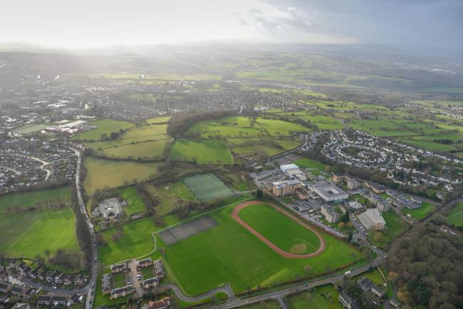 An aerial view of Leeds Trinity University