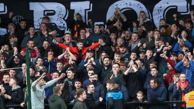 The last time City fans were allowed at a game was at Salford in March. Picture: Thomas Gadd